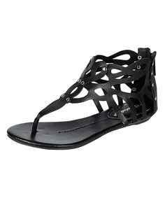 Take a look at the Black Rachel Sandal on #zulily today!