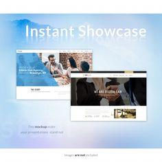 Web page mock up Free Psd Computer Mockup, Business Design, Presentation, Ads, Graphic Design, Digital, Free, Vectors, Graphics