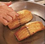 Sear-Roasted Salmon Fillets with Lemon-Ginger Butter