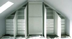 5 Gracious Cool Tips: Attic Flat Tvs attic room teenager.Attic Wardrobe Walk In cozy attic spaces. Attic Apartment, Attic Rooms, Attic Spaces, Attic Playroom, Apartment Therapy, Attic Wardrobe, Attic Closet, Attic Office, Wardrobe Storage