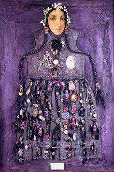 La maison de Mariette, French artist.   Purple