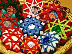 Yarn Stars make gorgeous ornaments and require nothing more than cardboard and scrap yarn!