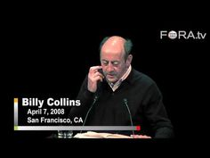 For all the poetry lovers, one of our favorite poems read by the poet. Billy Collins - Litany