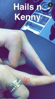 Tatts forever: The two girls got matching tattoos earlier in the day and uploaded the image to Snapchat, but quickly took it down