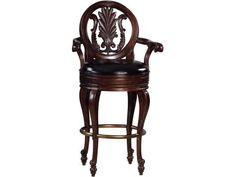 Shop for Howard Miller Bar and Game Room Niagara Barstool 697001 from James Antony Home with nationwide delivery! This handsome swivel bar stool matches the 693-001 Niagara bar and offers elaborately carved details on the seat back, arms and legs.
