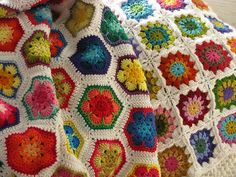 1000+ images about Crochet African Flower on Pinterest ...