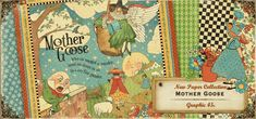 Make beautiful children's scrapbook layouts & projects with Graphic 45 Mother Goose at great prices from Cranberry Cat. Alphabet Stickers, Altered Boxes, Mother Goose, Graphic 45, Best Christmas Gifts, Scrapbook Paper, Scrapbooking Ideas, Mini Albums, Beautiful Day