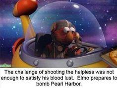 Elmo bombing Pearl Harbor Sesame Street meme