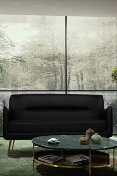 A statement piece with all the right mid-century modern elements that make this sofa versatile and stylish.