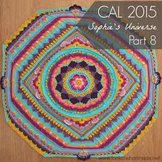 Part 8 of Sophie's Universe CAL 2015.  This crochet-along is a 20-week project with step-by-step photos, video tutorials, and translations.  #lookatwhatimade #sophiesuniversecal2015 #learntocrochet
