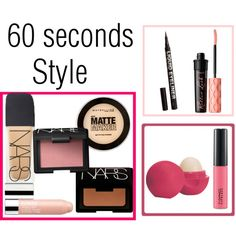 60 seconds style by cecechou on Polyvore featuring polyvore, beauté, NARS Cosmetics, Clinique, MAC Cosmetics, Maybelline, H&M and Eos