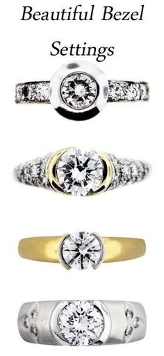 Engagement Rings 2017  Bezel settings are perfect for ladies on the go. Their smooth low-profile metal