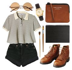 """""""Untitled"""" by hanaglatison ❤ liked on Polyvore featuring Levi's, Acne Studios, Muji and American Apparel"""