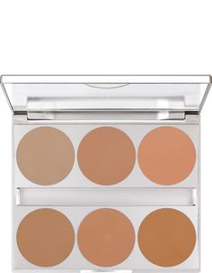 Dual Finish Palette 6 Colors | Kryolan - Professional Make-up