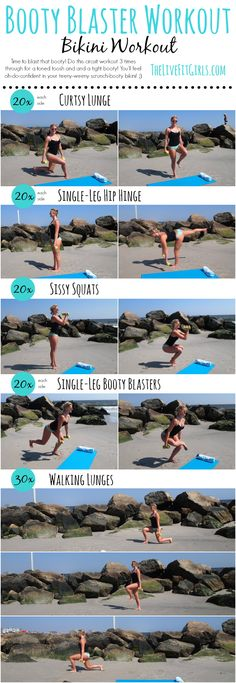 Booty Blaster Workout - perfect for those cute teeny-weenie scrunchy bikinis! ;)