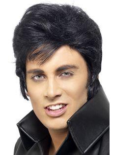 Elvis-peruukki. Peruukki on lisensoitu Elvis-tuote.