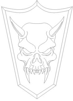 purple zombie demon skull ink drawing in 2020  demon