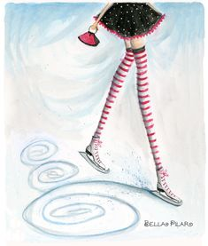 bella pilar christmas images | LOVE the ice skates and whimsical design!