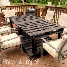 Pinterest Project - Pallet Table