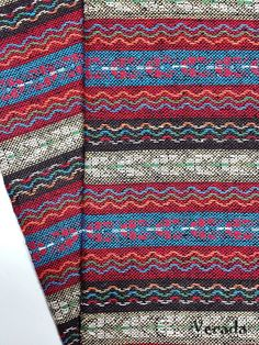 thai woven fabric tribal fabric cotton native fabric by the yard ethnic fabric aztec fabric craft supplies woven textile 1 2 yard wf86