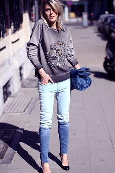 two tone jeans for fall