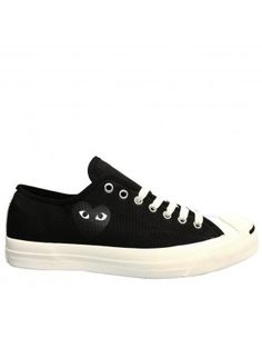 PLAY Jack Purcell Converse Black NOW with Black Heart <3