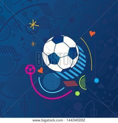 European championship 2016. France. 2016 Soccer Abstract blue background soccer pattern 2016 Football. Vector Illustration. Sport, champion, award, European Soccer Winner, WIN, Finale Game. World footbal