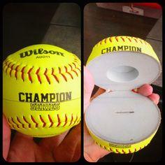 Perfect! Softball Engagement Ring Box.