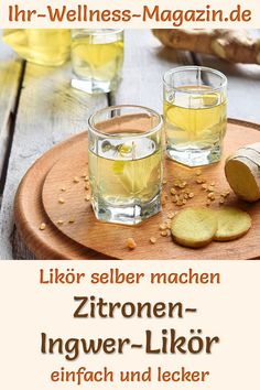 Make lemon-ginger liqueur yourself - simple recipe - Make lemon-ginger liqueur yourself: simple recipe for a homemade liqueur that is not only tasty but - Smoothie Recipes, Smoothies, New Fruit, Eating Plans, Food Items, Fruits And Veggies, Meal Planning, Simple, Nutrition