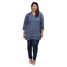 Damyantii Women's Plus Size Straight Blue Cotton 4XL Kurt... http://www.amazon.in/dp/B01G59B0LW/ref=cm_sw_r_pi_dp_x_P4CQxb0TMBHDK