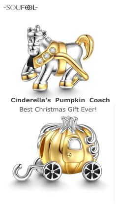 SOUFEEL Pumpkin Coach Charm. Every girl has a dream of fairy tale in her heart and that dream is Cinderella. Surprising Prices for the Top 50 Customers!