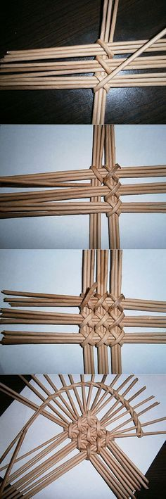 Netting made of paper and boards - discussion forums on Newspaper Basket, Newspaper Crafts, Diy Arts And Crafts, Home Crafts, Basket Weaving Patterns, Willow Weaving, Paper Weaving, Weaving Projects, Weaving Techniques