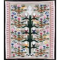Navajo Handwoven Tree of Life Rug by Leita Bedonie Sand Painting, Navajo Rugs, Trading Post, Native Americans, Tree Of Life, Textile Design, Nativity, Hand Weaving, Textiles