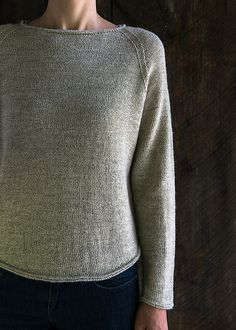 Lightweight Raglan Pullover pattern by Purl Soho - free