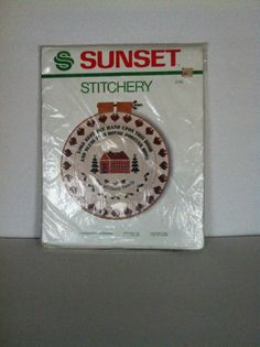 Sunset Stitchery Christmas Blessing Kit Vintage 1983 #2105 Free Shipping