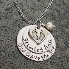 Personalized baby birth stats new baby jewelry first mothers day personalized mothers day gift first time mom gift new mom gift personalized necklace hand stamped mothers negle Gallery
