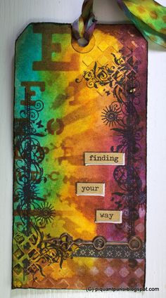 September tag for the 12 tags of 2013 called for layering stencils, and I managed to grab some of the new TH stencils straight from the firs...