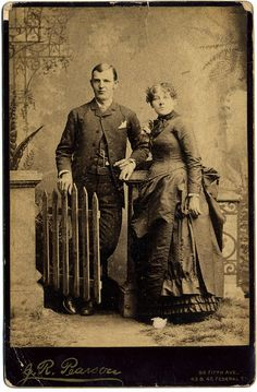 An interesting couple! Circa 1890? Photo unlabeled. Estate find.J.R. Pearson, Photographer