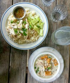Not a bad way to start the week. Chicken rice and the best Tom kha soup!