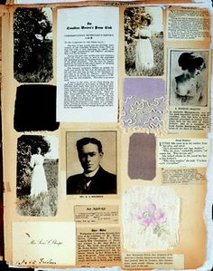 Lucy Maud Montgomery scrapbook