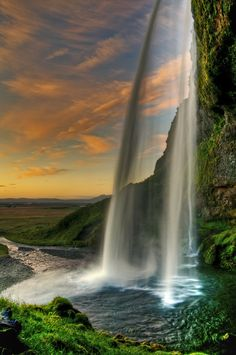 Seljalandsfoss - Iceland | It is one of the most famous waterfalls of Iceland. It is very picturesque and therefore its photo can be found in many books and calendars. This waterfall of the river Seljalandsá drops 60 metres.