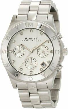 Marc Jacobs Blade SS Chronograph Bracelet Women's Watch - MBM3100, http://www.amazon.com/dp/B00597D2WC/ref=cm_sw_r_pi_awdm_wMNXsb0BX319V