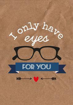 Valentijn postkaart I only have eyes for you Valentijn postkaart I only have eyes for you is een grappige kaart. Stuur deze grote (12 x 17 cm) valentijnskaart naar je geliefde of lijst hem in. De...