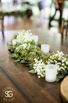 Farm table wedding centerpiece at Black Mountain Sanctuary