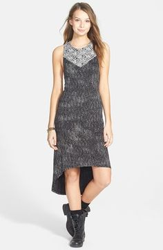 RVCA 'Lilliana' Mixed Print High/Low Dress (Juniors)