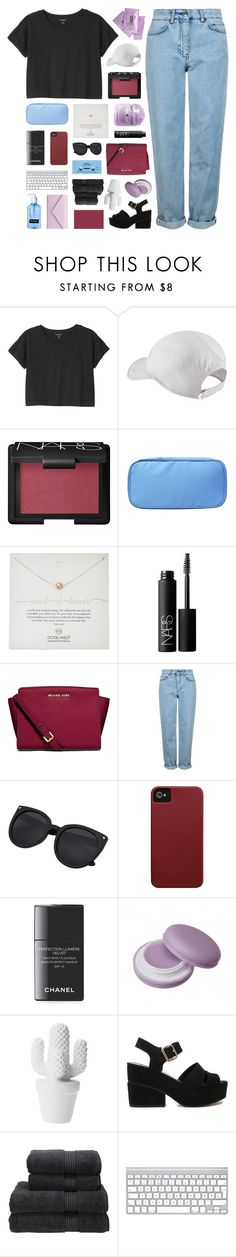 """ANDROMEDA"" by bosspresident ❤ liked on Polyvore featuring Monki, NIKE, NARS Cosmetics, Dogeared, MICHAEL Michael Kors, Topshop, Case-Mate, CASSETTE, Chanel and ASOS"