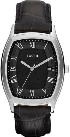 Fossil Ansel Leather Watch - Black #FS4742