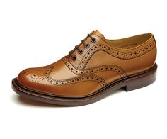 Premium heavy country brogue, constructed using hand burnished tan calf leather, made in England.