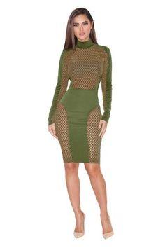 Multi Color Hollow Bandage Dress Fashion sexy Nightclub  Dress