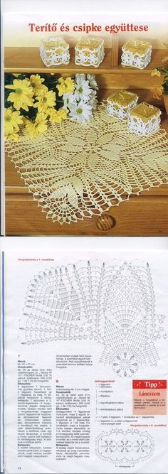 Blue Pinwheel Doily Table Topper Perfect Pinwheels crochet pattern leaflet